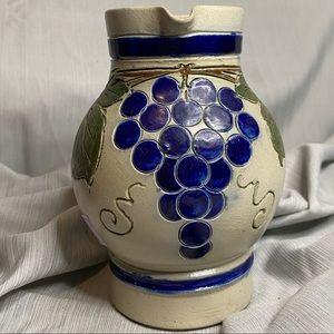 Vintage Germany stoneware wine pitcher.